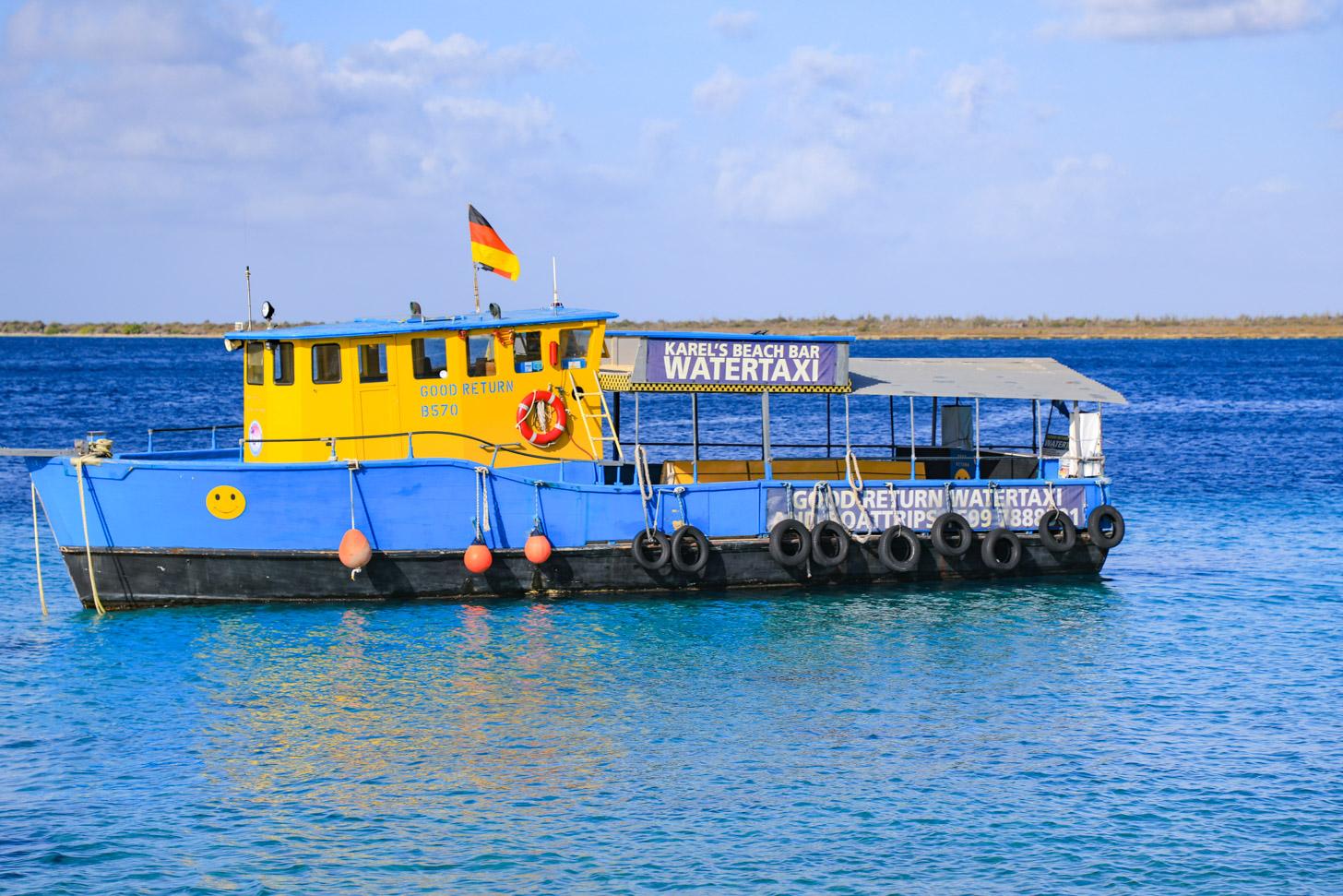 Watertaxi naar Klein Bonaire