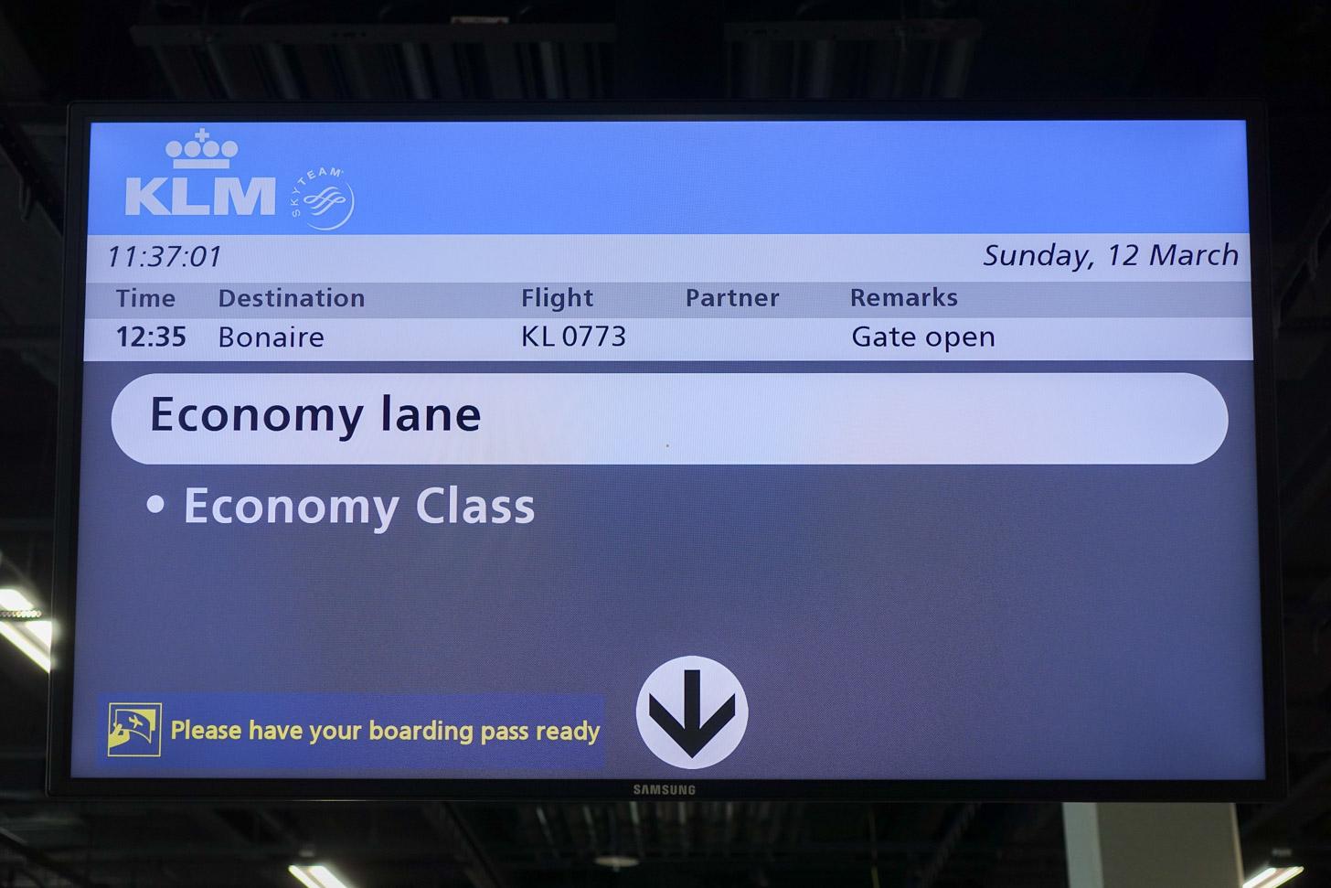 KLM vlucht van Amsterdam naar Bonaire